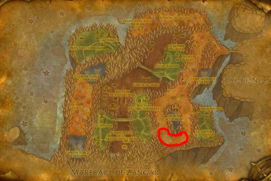Localisation principale de Drakes du Néant inférieurs et de Rejetons du Néant - Burning Crusade : Classic