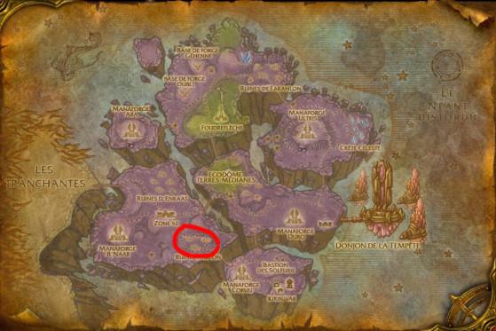 Localisation principale de Chercheurs d'artéfact - Burning Crusade : Classic
