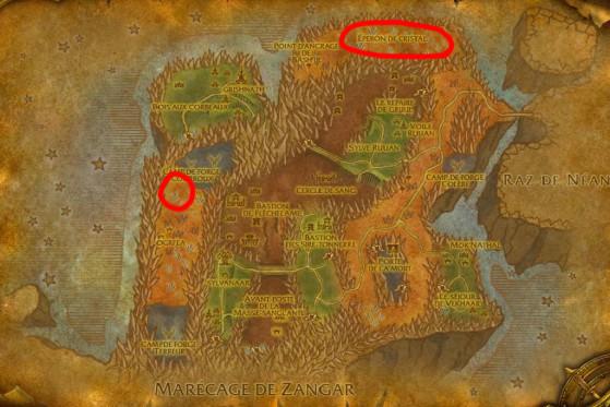 Localisation principale de Lézards daguequeue - Burning Crusade : Classic