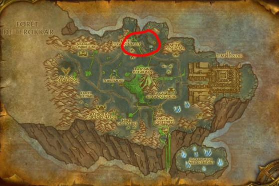 Localisations principales de Cobras glissentaille - Burning Crusade : Classic