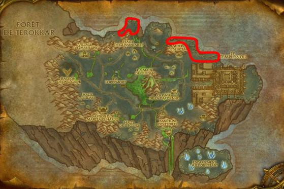 Localisations principales de Serpents d'ombre - Burning Crusade : Classic