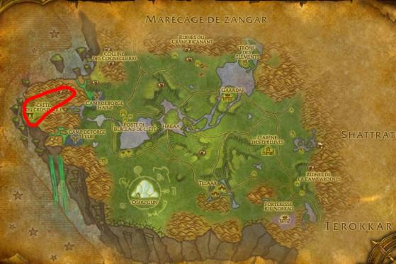 Localisation principale de Serpents du crépuscule - Burning Crusade : Classic