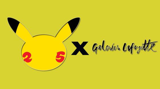 Pokémon et les Galeries Lafayette s'associent pour les 25 ans !