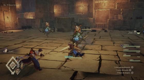 Ces ennemis volent (Shionne) et lancent des sorts (Rinwell) - Tales of Arise