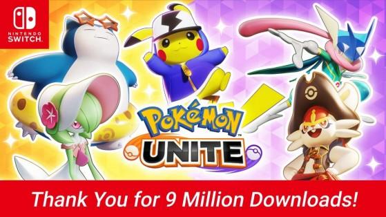 9 millions de téléchargements pour Pokémon Unite sur Switch