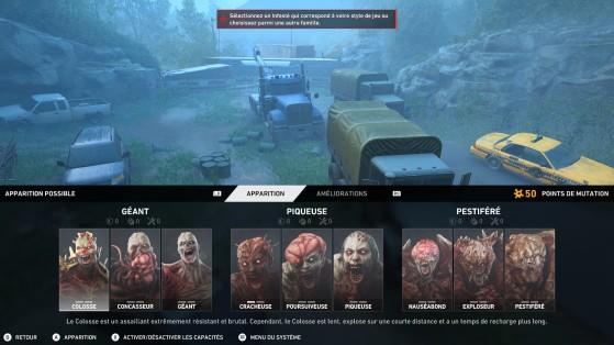 Back 4 Blood : Choix des infectés en mode nuée - Back 4 Blood