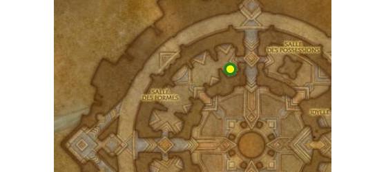 Emplacement de l'Imprégnateur Au'vresh, maître des enchanteurs à Oribos - World of Warcraft