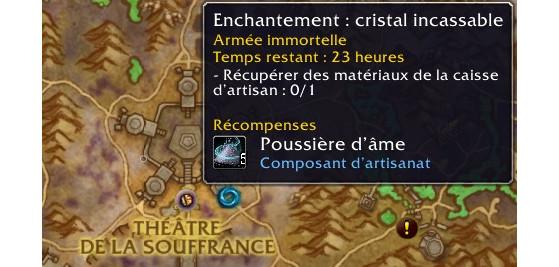 L'icône de l'enchantement permet de reconnaître facilement les expéditions du métier - World of Warcraft
