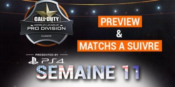CWL Semaine 11: Preview & matchs à suivre
