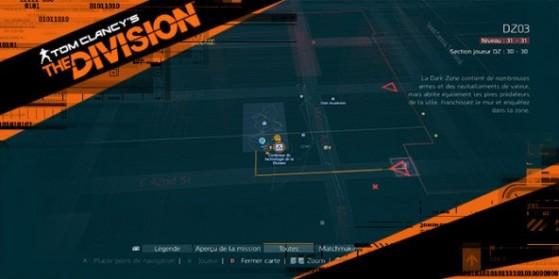 Carte coffres Technologie de la Division