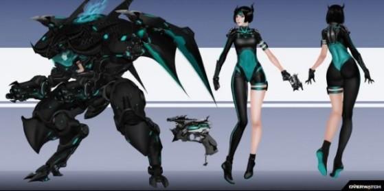 Overwatch, skin concept D.Va Dragon