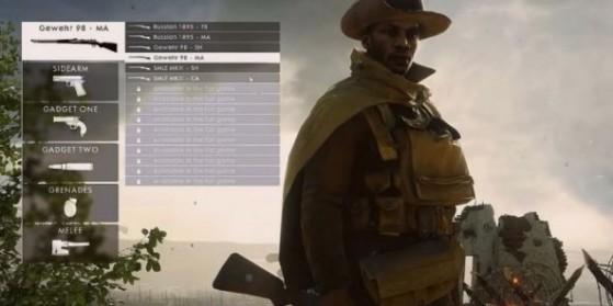 Battlefield 1 : Personnalisation, loadout