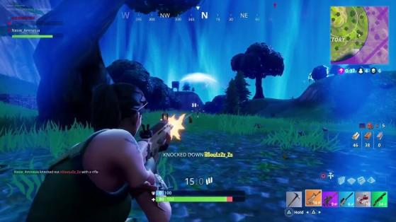 La tempête se referme sur les derniers joueurs de la partie. - Fortnite : Battle royale