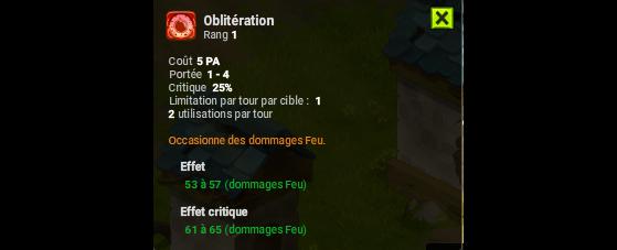 Oblitération - Dofus