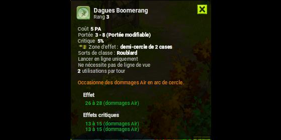 Dagues Boomerang - Dofus