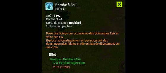 Bombe à Eau - Dofus