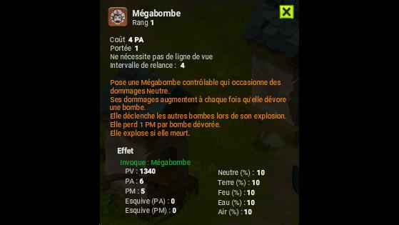 Mégabombe - Dofus