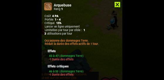 Arquebuse - Dofus