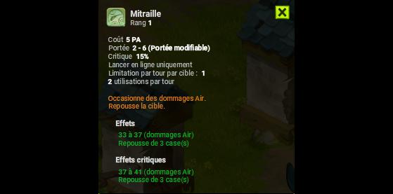 Mitraille - Dofus