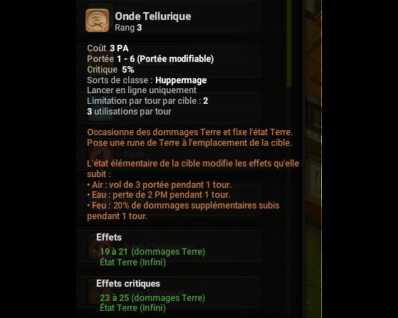 Onde Tellurique - Dofus