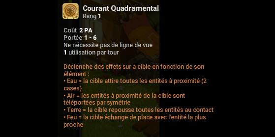Courant Quadramental - Dofus