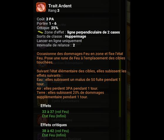 Trait Ardent - Dofus