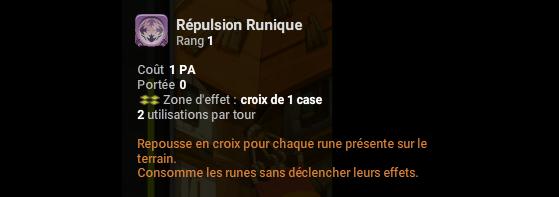 Répulsion Runique - Dofus