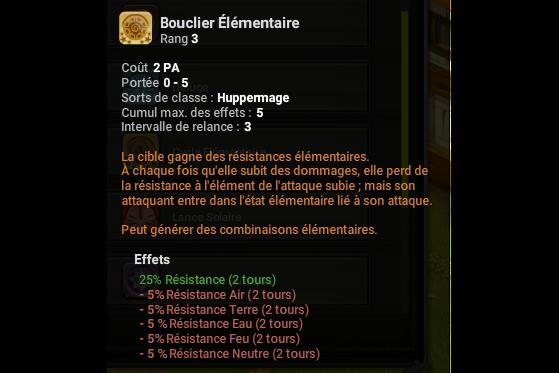 Bouclier Elementaire - Dofus