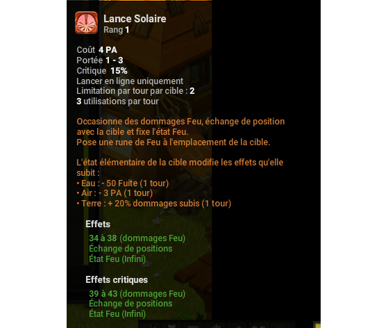 Lance Solaire - Dofus