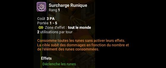 Surcharge Runique - Dofus