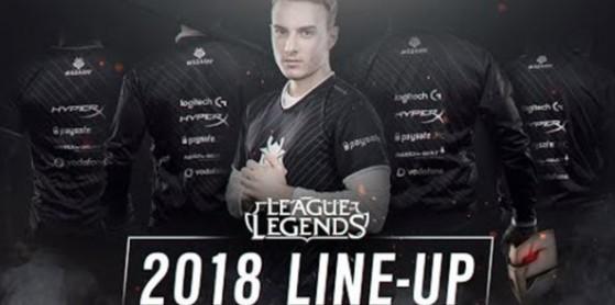 L'équipe G2 Esports 2018 révélée
