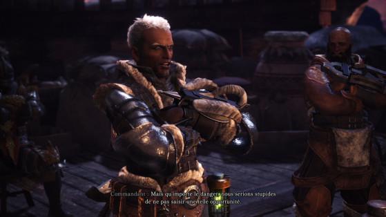 Le commandant est très fort pour envoyer les autres au casse pipe - Monster Hunter World