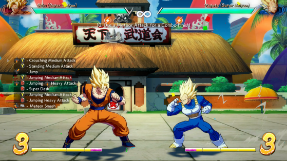 Exemple d'un vrai combo - Dragon Ball FighterZ