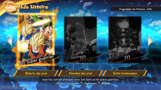 Les différents arcs de l'histoire - Dragon Ball FighterZ