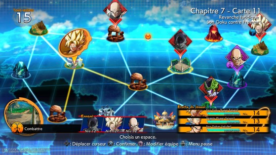 Exemple de plateau du mode histoire - Dragon Ball FighterZ