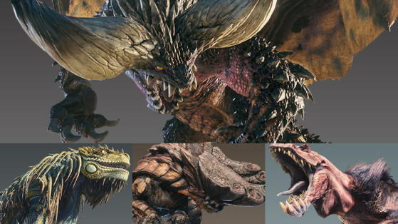 Monster Hunter: World, Tous les monstres