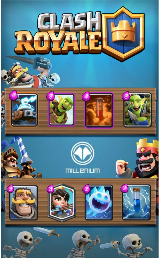 Clash Royale : Deck Log Bait new meta - Millenium