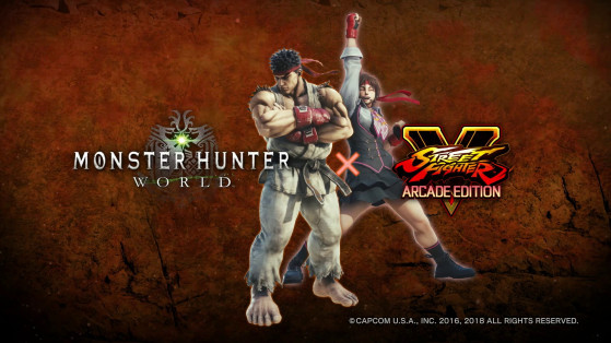 Ryu et Sakura de Street Fighter s'invitent dans Monster Hunter World