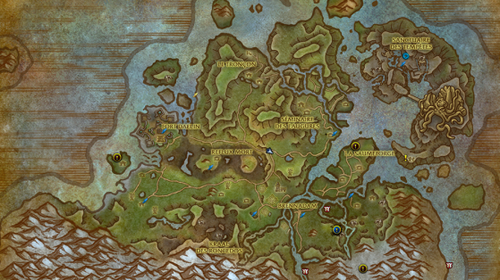 Carte de la Vallée Chantorage - World of Warcraft