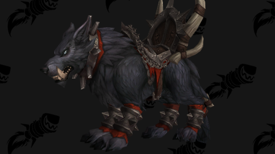 WoW BFA Monture : Loup redoutable Mag'har (Mag'har Direwolf)