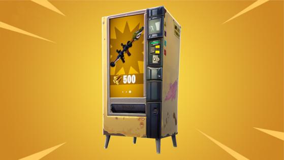 Fortnite : défi, utiliser un distributeur automatique