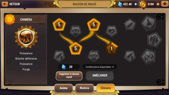 Arbre-starter en école de magie Chimera pour accélérer votre early game - Might & Magic : Elemental Guardians