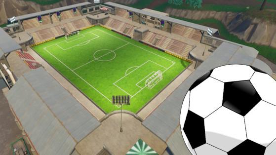 Fortnite : défi, marquer un but sur différents terrains de foot