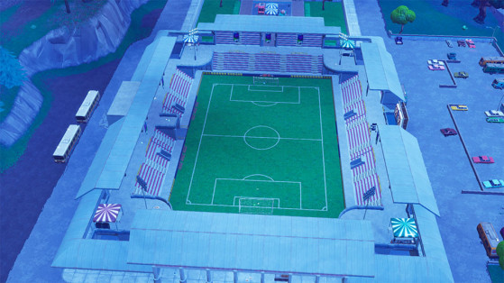 fortnite nouveau lieu stade de foot - fortnite stade de foot