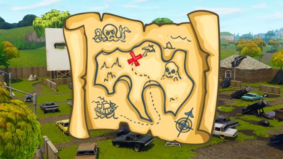 Fortnite : défi, carte au trésor de Risky Reels