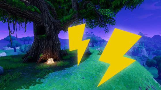 Fortnite : éclairs volants, défi