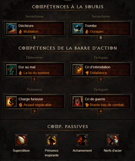 Détail des compétences & runes - Diablo 3