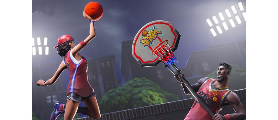 fortnite mettre un ballon de basket dans differents paniers les terrains millenium - panier de basket fortnite saison 5