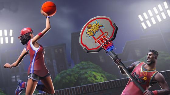 Image De Basket fortnite : mettre un ballon de basket dans différents paniers, les