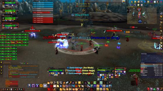 Exemple (excessif) du type d'interface que nous déconseillons fortement - World of Warcraft